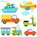 Cartoon vehicles vector Royalty Free Stock Photos