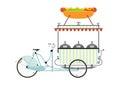 Cartoon vendor cart