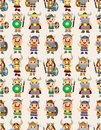 Cartoon vikings pirate seamless pattern Stock Photos
