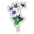 Cartoon violet flower nature spring icon