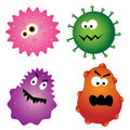 Cartoon virus germs Royalty Free Stock Photo