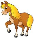 Cartoon walking horse Royalty Free Stock Images