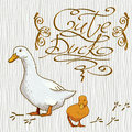 Cartoon wallpaper with duck this is file of eps format Stock Photo