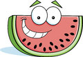 Cartoon watermelon illustration of a smiling slice of Stock Photography