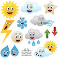 Cartoon Weather Collection Stock Photography