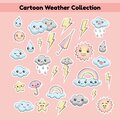 Cartoon Weather Collection Royalty Free Stock Photo