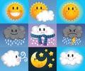 Návrh malby počasí symboly