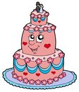 Cartoon wedding cake Stock Image