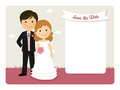 Cartoon wedding invitation