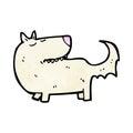 cartoon well trained dog Royalty Free Stock Photo
