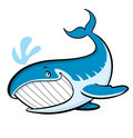 Cartoon whale Royalty Free Stock Photo