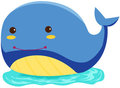 Cartoon whale Stock Images