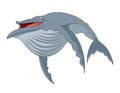 Cartoon whale vector image of funny smiling Royalty Free Stock Photo