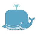Cartoon whale vector image of funny smiling Stock Photo