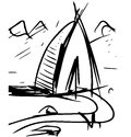 Cartoon wigwam sketch vector illustration this is file of eps format Royalty Free Stock Image