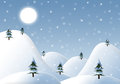 Cartoon winter background landscape is suitable as a for design of cards and collages high resolution image Royalty Free Stock Photography