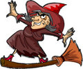 Cartoon witch, Happy Halloween vector Royalty Free Stock Images