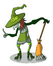 Cartoon Witch.
