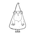 Cartoon wizard black and white line in retro style vector available Royalty Free Stock Photography