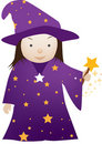 Cartoon wizard girl Royalty Free Stock Photo