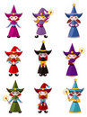Cartoon Wizard  icon set Stock Photo