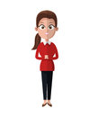 Cartoon woman business manager occupation