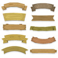 Cartoon wood banners and ribbons illustration of a set of spring wooden award ribbon texas ranch for agriculture farm seal Stock Image