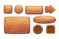 Cartoon wooden game assets Royalty Free Stock Photo