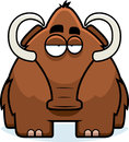 Cartoon woolly mammoth a big brown standing Stock Photography