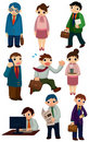 Cartoon workers icon Royalty Free Stock Photos