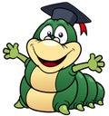 Cartoon worm professor Royalty Free Stock Photo