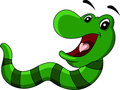 Cartoon worm smiling vector illustration of Stock Images