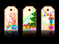 Cartoon xmas labels Royalty Free Stock Images
