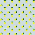 Cartoon yellow lemons seamless pattern background vector. Lemon seamless pattern. Yellow citrus. colorful lemons pattern Royalty Free Stock Photo