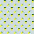 Cartoon yellow lemons seamless pattern background vector. Lemon seamless pattern. Yellow citrus. colorful lemons pattern Royalty Free Stock Photo