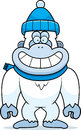 Cartoon yeti winter a illustration of a wearing clothes Royalty Free Stock Photography