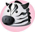 Cartoon zebra Royalty Free Stock Images
