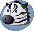 Cartoon zebra Stock Images