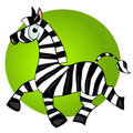 Cartoon zebra  character.striped cute animal Stock Photography