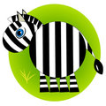 Cartoon zebra zoo. wild mammal Royalty Free Stock Photography