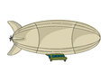 Cartoon zeppelin over white background Royalty Free Stock Images