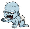 Cartoon zombie baby vector illustration of Stock Images