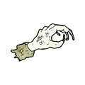 Cartoon zombie hand Stock Photography