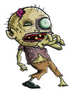 Cartoon Zombie making a grabbing movement Stock Image