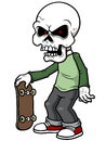 Cartoon zombie vector illustration of Royalty Free Stock Images