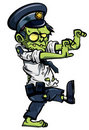Cartoon zombiw policeman Royalty Free Stock Photography