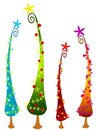 Cartoonish Christmas Trees 2