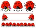 Cartoonish Ladybug Clip Art And Logo Stock Photo