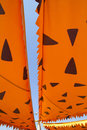 Cartoonish orange awning sunshade Royalty Free Stock Images