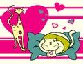 Cartoons animals love Royalty Free Stock Photo